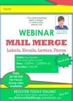 Mail Merge WEBINAR: Create Labels, Letters, Emails,...