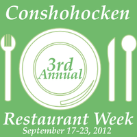 3rd Annual Conshohocken Restaurant Week Preview Party...