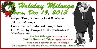 Tango Xmas Party with Tango and More
