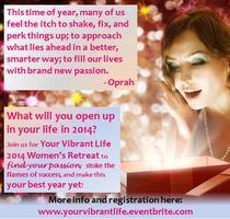 Your Vibrant Life Women's Retreat 2014
