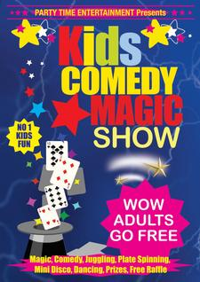 Kids Comedy Magic Show by Party Time Entertainment logo
