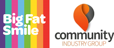 Big Fat Smile and Community Industry Group logo