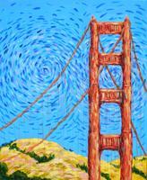 Pa'ina Paint Club - Golden Gate Bridge a la Van Gogh