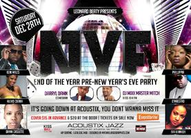 """NYF"" END OF THE YEAR PRE-NEW YEAR'S EVE PARTY"