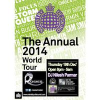 MINISTRY OF SOUND THE ANNUAL WORLD TOUR 2014