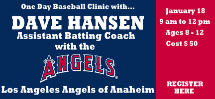 NEW DATE... Dave Hansen Baseball Clinic