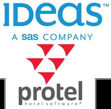 IDeaS Revenue Solutions & protel logo