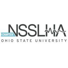 The Ohio State University National Student Speech-Language Hearing Association logo