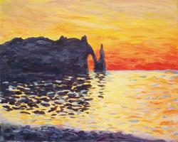 Pa'ina Paint Club - Monet Sunset at Etretat