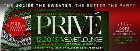 """Ugly Sweater Party"" @ Velvet Lounge [FREE w/ RSVP]"