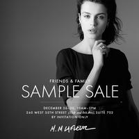 Friends & Family Sample Sale