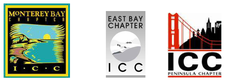 East Bay, Monterey Bay and Peninsula Chapters of ICC logo