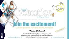 """BEAUTIES, Inc. """"Celebrating God's Gift in Young Ladies"""" logo"""