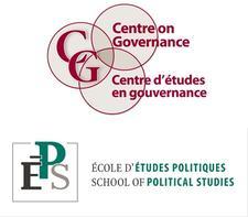 Le Centre d'études en gouvernance et l'École d'études politiques de la Faculté des sciences sociales logo