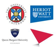University of Edinburgh, Heriot-Watt University, Edinburgh Napier University & Queen Margaret University logo