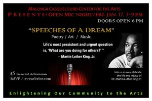 Speeches Of A Dream: MLK Celebration Open Mic