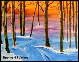 Sip n' Paint Winter Glow: Sunday December 29th, 5pm