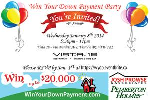 Win Your Down Payment Client Appreciation Party