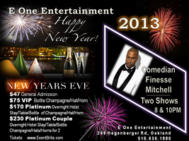 NYE Finesse Mitchell at E One Comedy Club