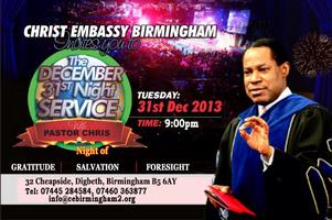 December 31st New Year's Eve Service with Pastor Chris