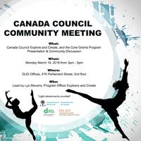 Canada Council Community Meeting