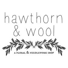 Hawthorn & Wool - a Floral and Needlework shop logo