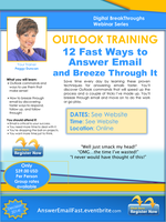12 Fast Ways to Answer Email in Outlook with Peggy...