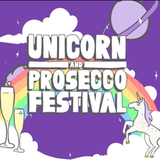 Unicorn and Prosecco Festival logo