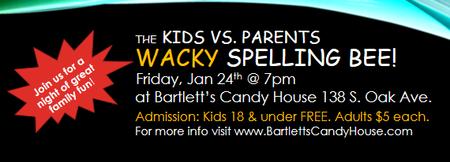 The Kids vs. Parents Wacky Spelling Bee