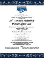23rd Annual Scholarship Dinner/Dance Gala,...