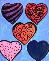 Canvas Painting Class - Hearts