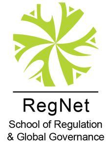 School of Regulation and Global Governance (RegNet) logo