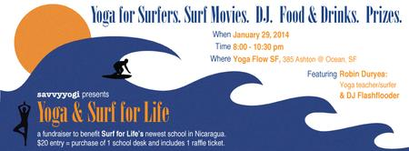 Yoga & Surf for Life Fundraiser