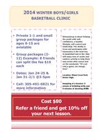 2014 Winter Boys/Girls Basketball Clinic