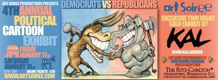 Art Soiree's 4th Annual Political Cartoon Exhibit at The...