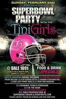 Super Bowl with the TiniGirls