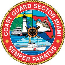 Presented by US Coast Guard Sector Miami - Prevention and US Coast Guard Auxiliary  logo
