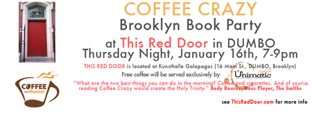 COFFEE CRAZY Brooklyn Book Party at THIS RED DOOR...