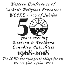 WCCRE (Western Conference of Catholic Religious Educators) logo