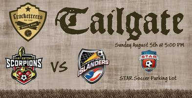 Tailgate Party & Scorpions vs Puerto Rico Islanders