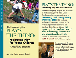 Play's the Thing: Facilitating Play for Young Children...