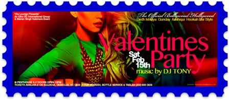 !! Official Bollywood-Hollywood Valentines Dance Party...