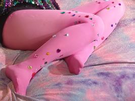 Embellished Tights Customisation Class with Pinned it!...