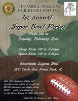 Paul Revere Post 623's 1st Annual Super Bowl Event