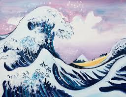 Paint Hokusai's Great Wave + Wine! London Bridge,...