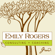 Emily Rogers, business consultant, executive coach and retreat leader  logo