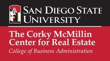 SDSU'S Corky McMillin Center for Real Estate logo