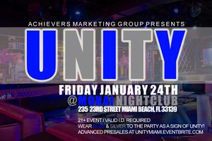 Achievers UNITY Party (blue & silver theme)