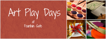 Art Play Days at Fountain Gate