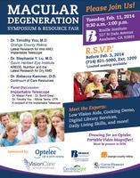 Macular Degeneration Symposium and Resource Fair